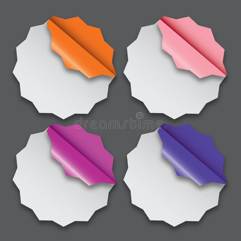 Paper Labels With Different Corner Royalty Free Stock Photo