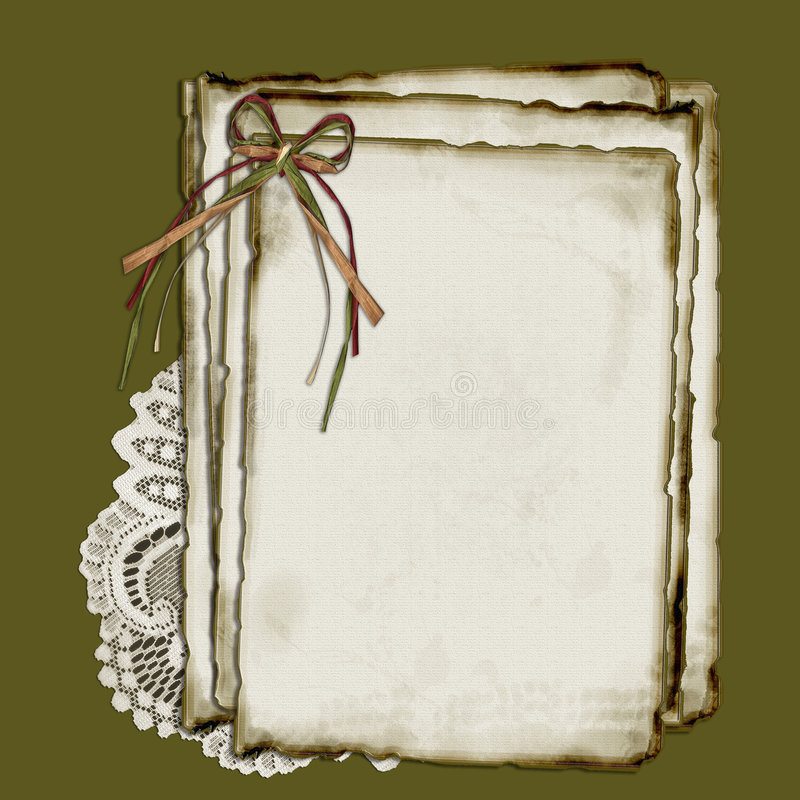Paper And Lace Stock Image