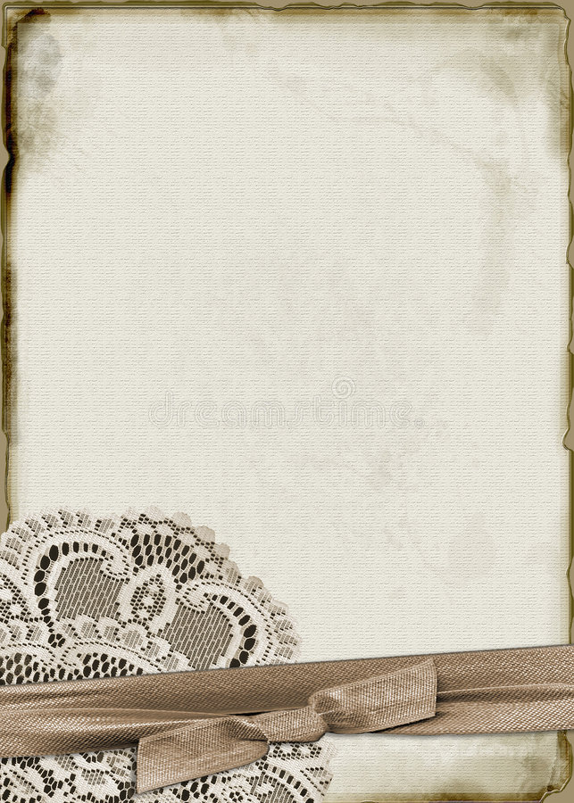 Paper and Lace stock illustration