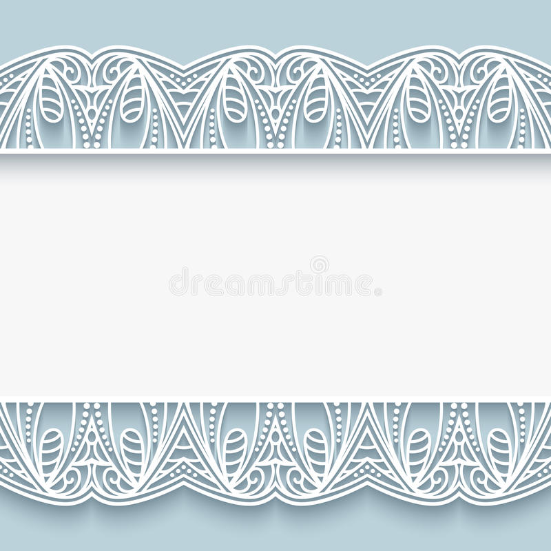 Paper Lace Border Background Stock Vector Illustration