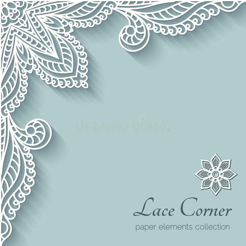 Free Paper Lace Corner Stock Photography - 43174712