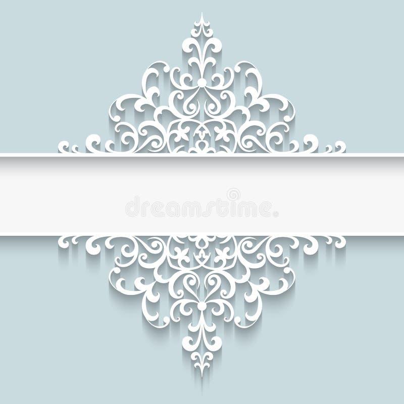 Paper lace divider frame stock illustration