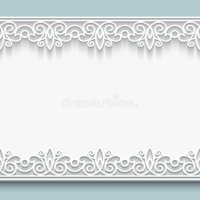 Paper lace frame stock illustration