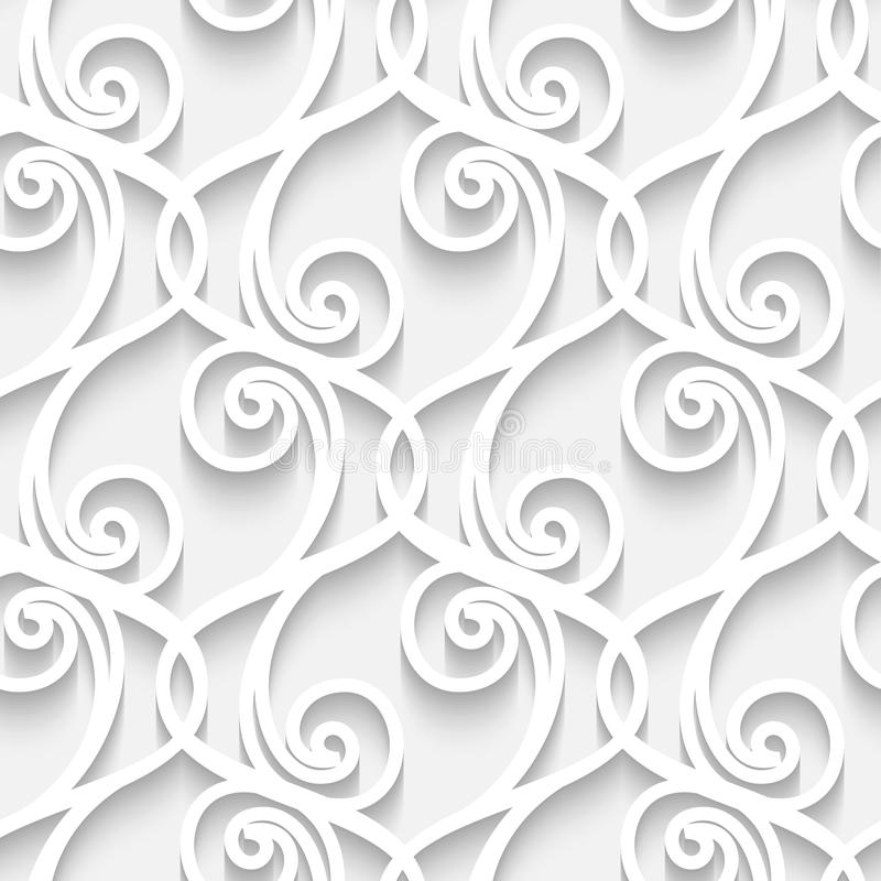 Paper lace pattern vector illustration