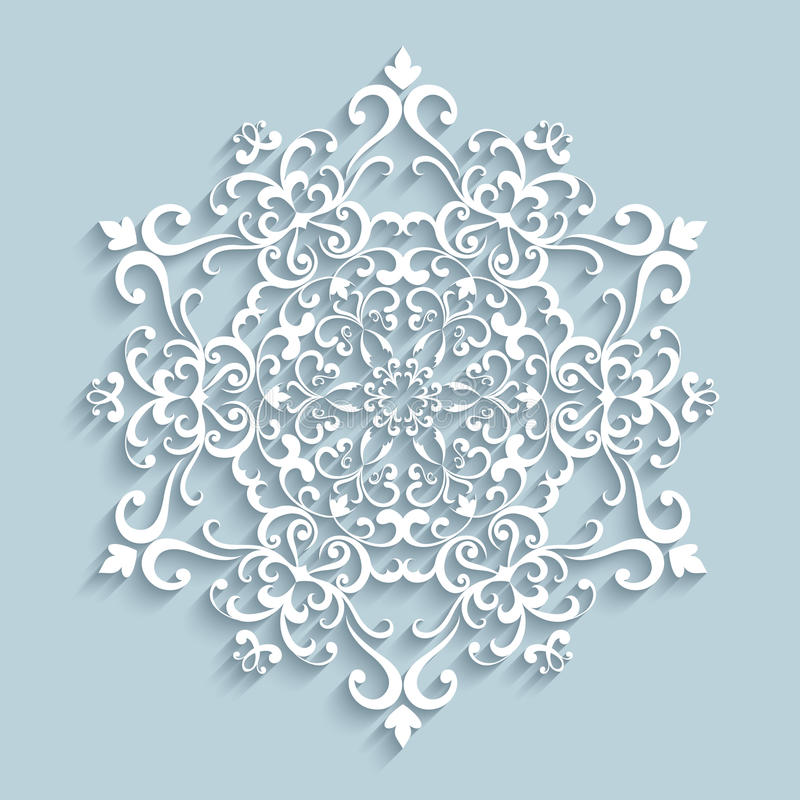 Free Paper Lace Snowflake Stock Photography - 47702602