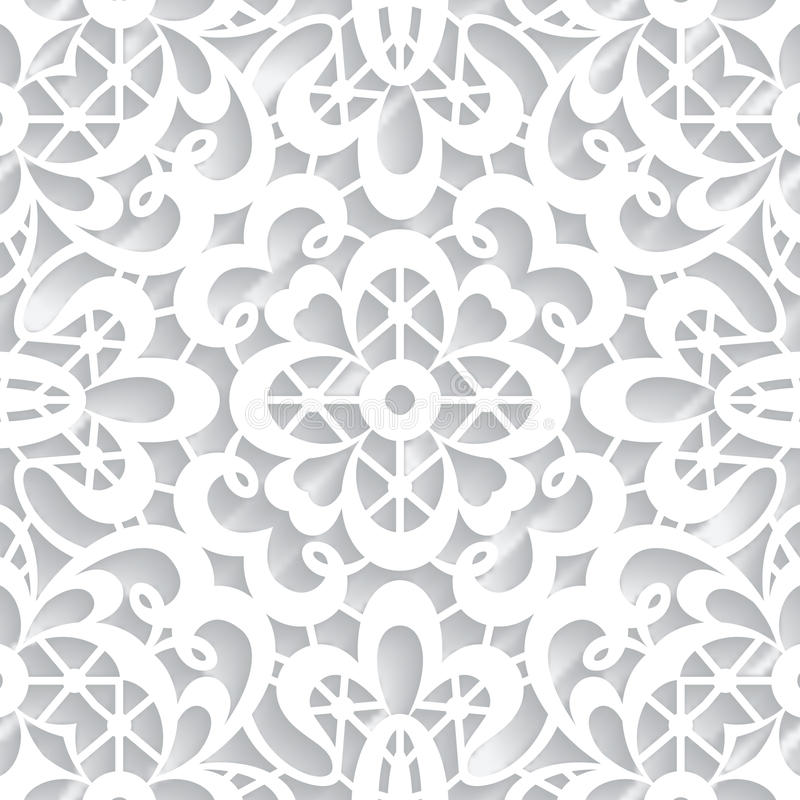 Paper lace texture. Abstract paper lace texture, seamless pattern stock illustration