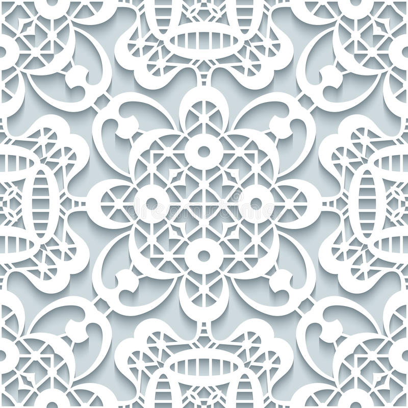 Paper lace texture, seamless pattern vector illustration