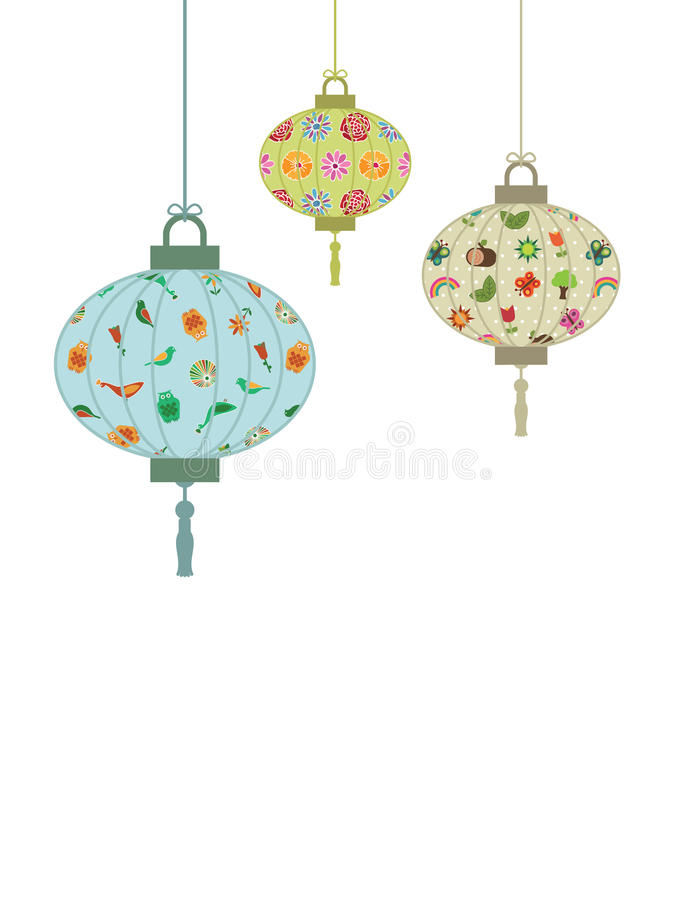 Paper lanterns stock photos