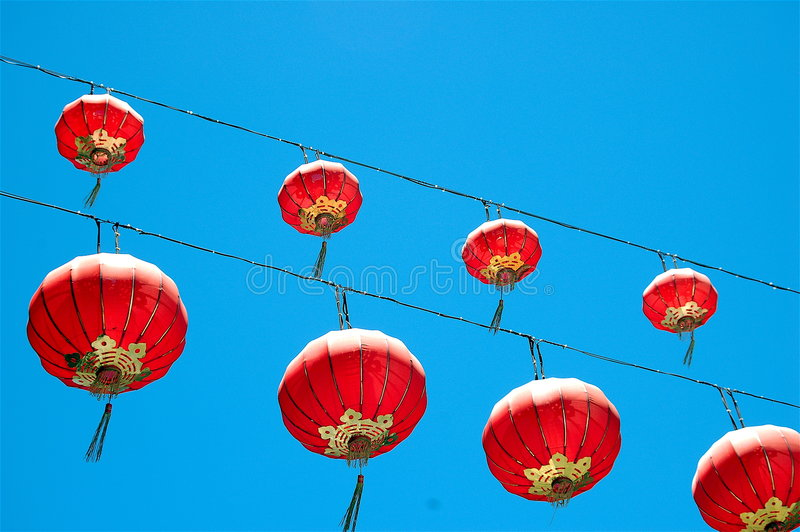Download Paper Lanterns stock image. Image of ballon, lamps, colors - 888703