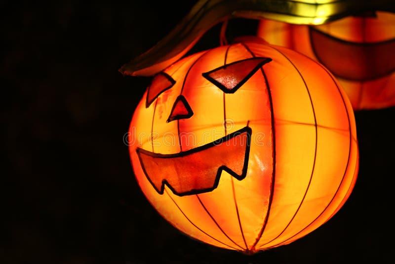 Paper lanterns to celebrate Halloween stock photos