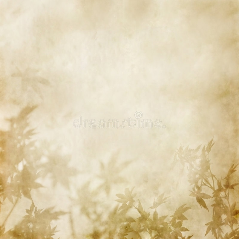 Paper with leaves royalty free stock photography