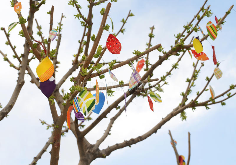 Download Paper leaves stock image. Image of hanging, branch, colorful - 30333295