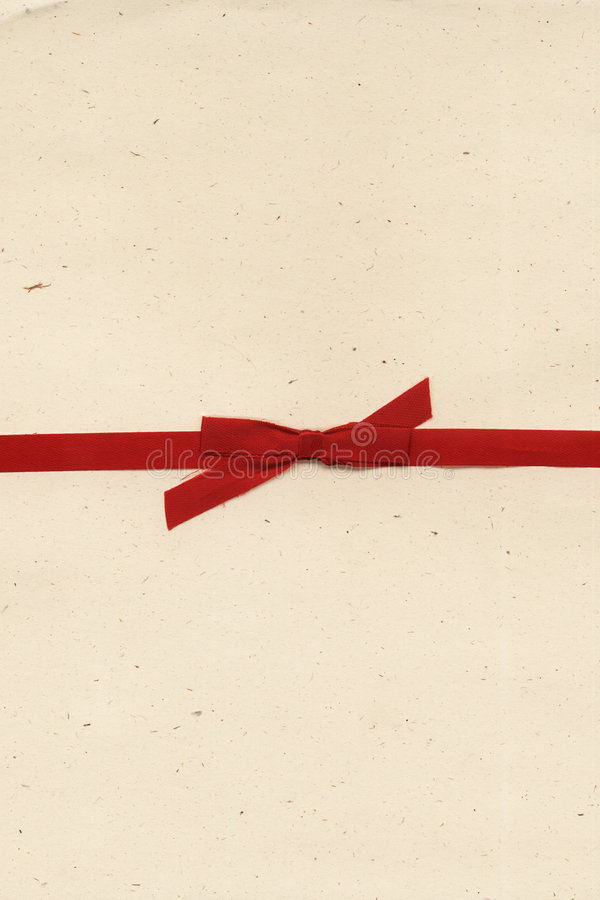 Paper letter. A paper letter with red bow royalty free stock photography