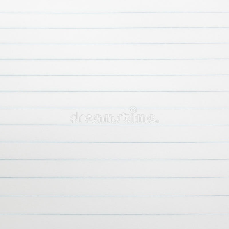 Paper. Lined white paper in notebook stock image