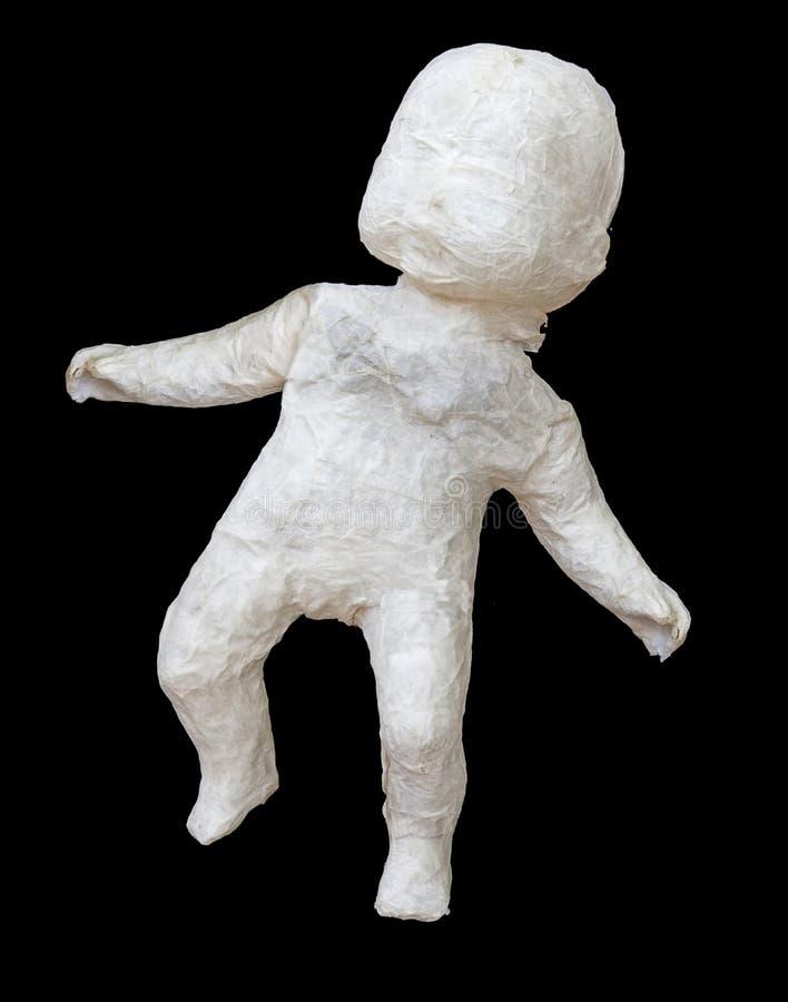 Paper Maché Baby stock photo