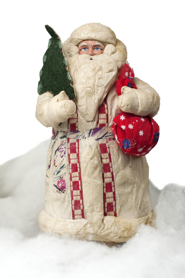 Download Paper-mache Santa Claus Toy (with Fir And Sack) Stock Photo - Image: 12602864