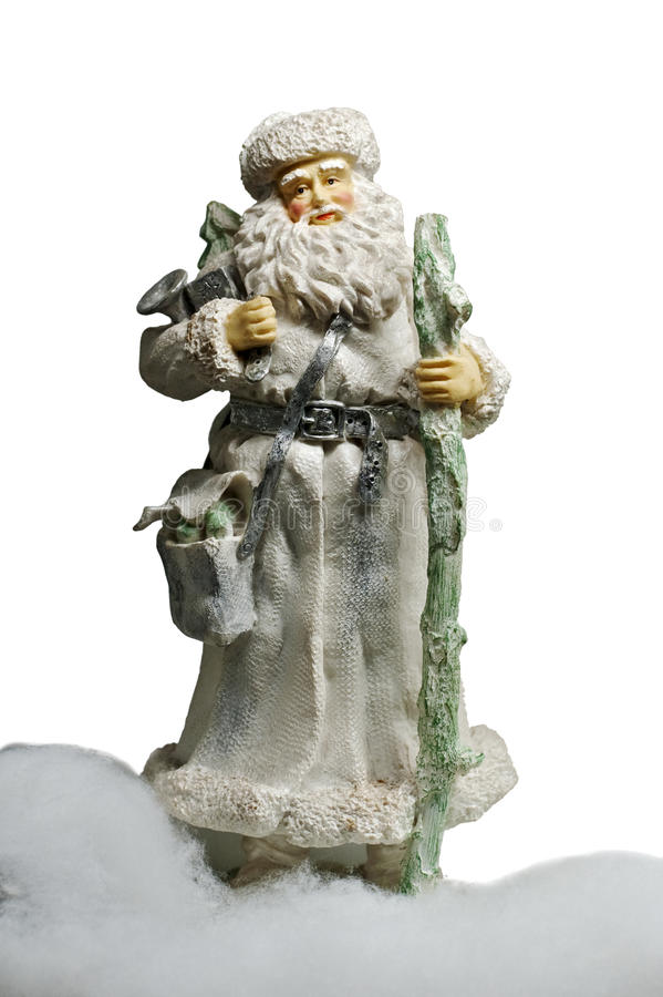 Download Paper-mache Santa Claus Toy (with Staff And Bag) Stock Image - Image: 12602853
