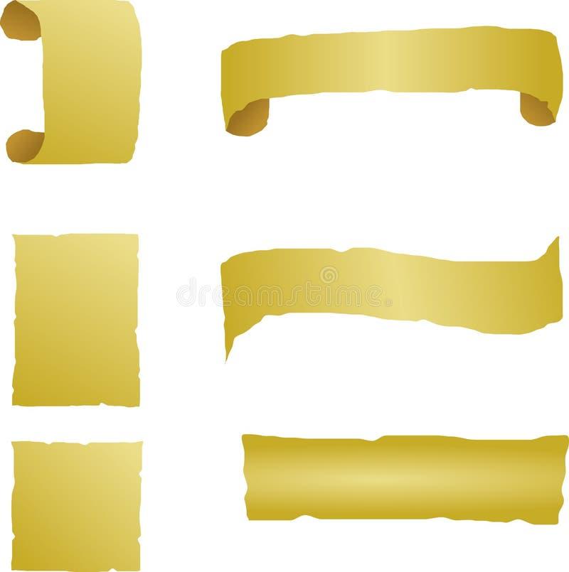 paper mallar för antika baner stock illustrationer