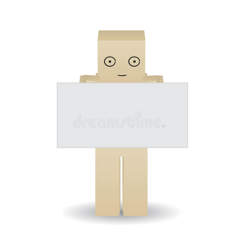 Download Paper Man Shows A Blank Poster Royalty Free Stock Images - Image: 36397089