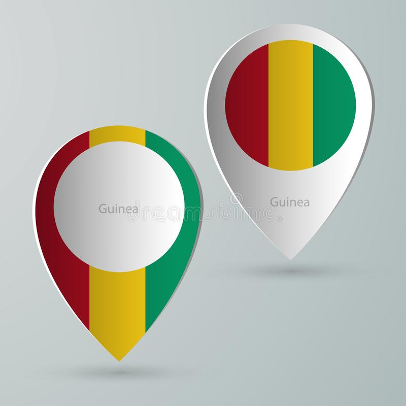 Paper of map marker for maps guinea royalty free illustration