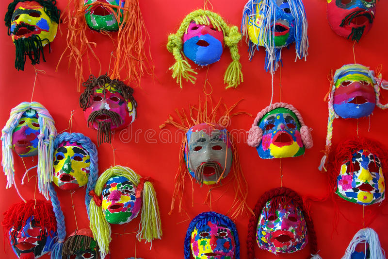 Download Paper Masks stock image. Image of blue, face, closeup - 14856279
