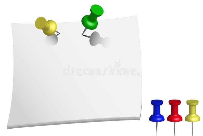 Paper memo, push pin