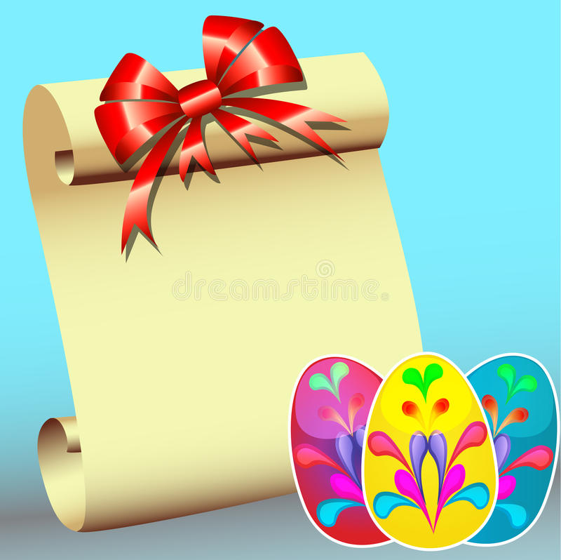 Download Paper For Message With Bow And  Stickers Stock Illustration - Image: 23893441