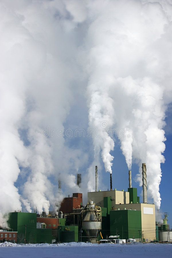 Download Paper Mill Producing A Lot Of Smoke Stock Image - Image of discharged, production: 465217