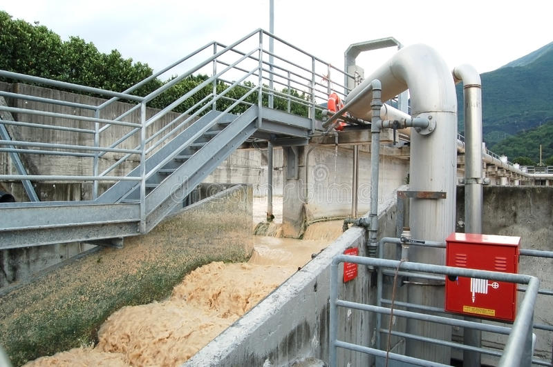 Download Paper Mill - Water Purification Stock Image - Image: 9583135