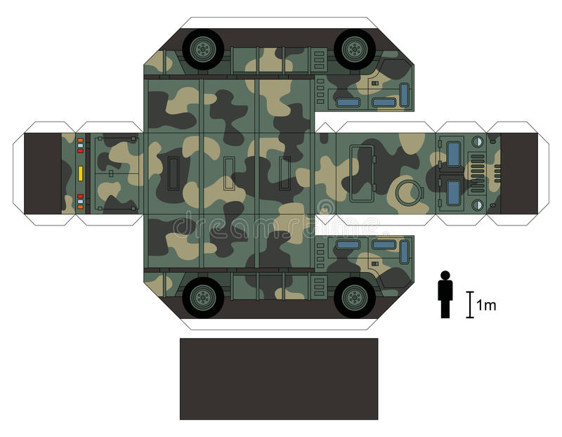 Paper model of a military truck royalty free stock photos