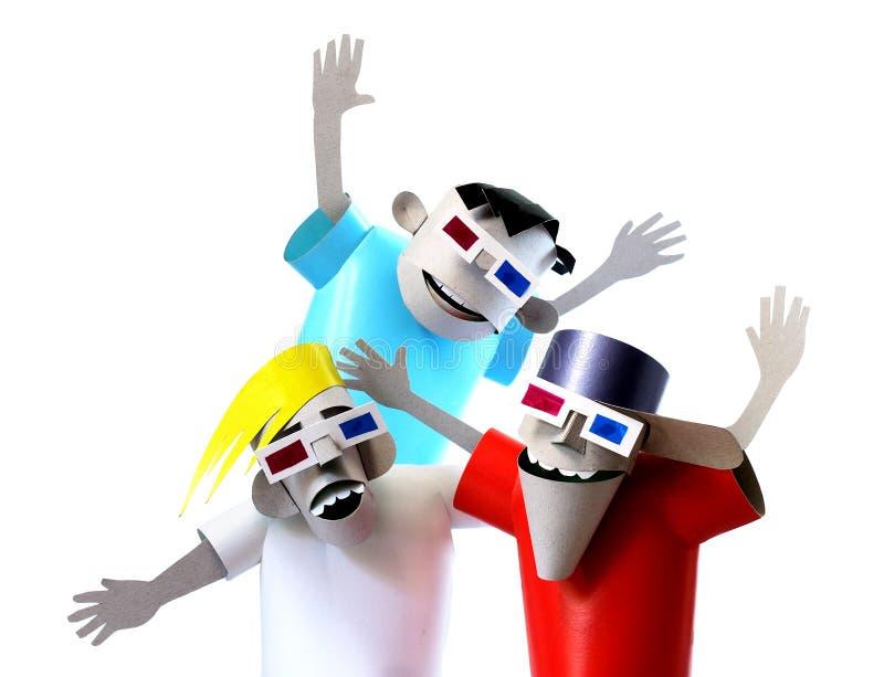 Download Paper Model Scared Movie Spectators Stock Illustration - Image: 25307181