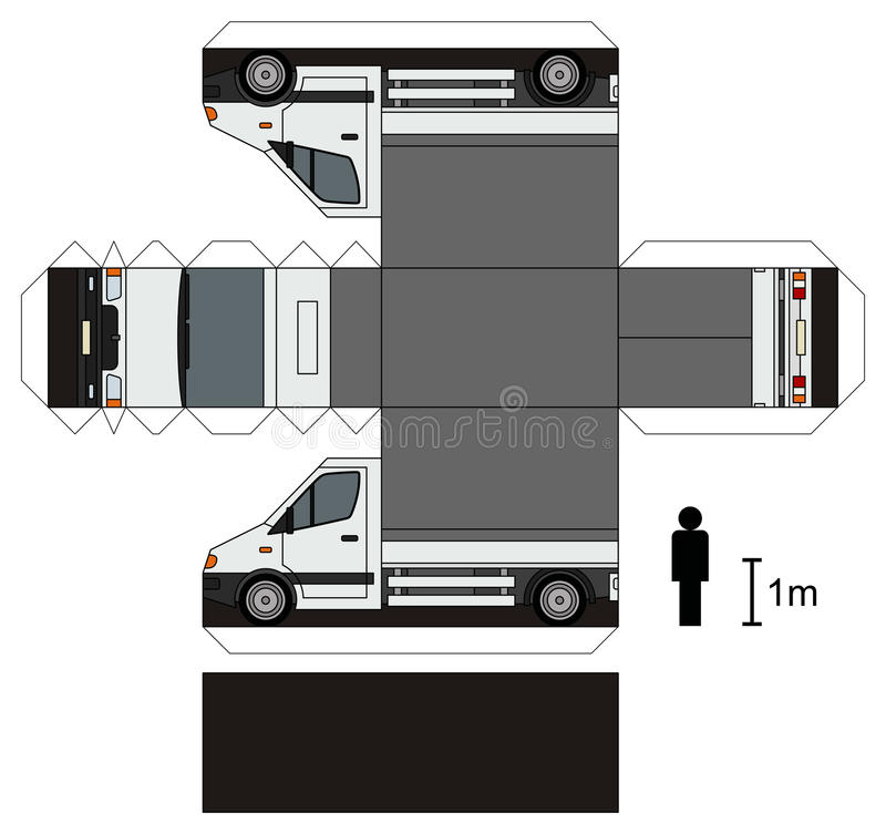 Paper model of a small truck royalty free stock images