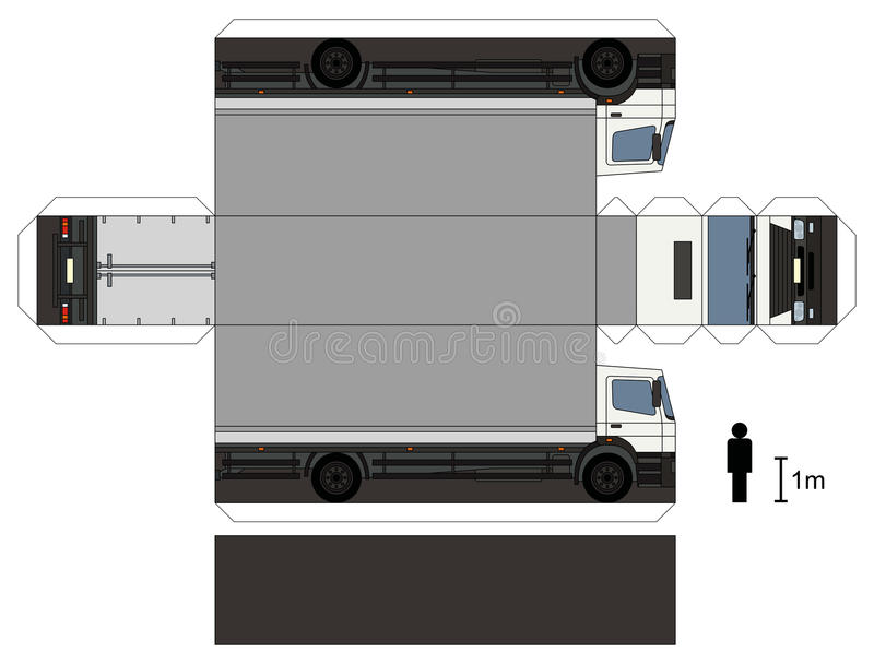 Paper model of a truck stock photo