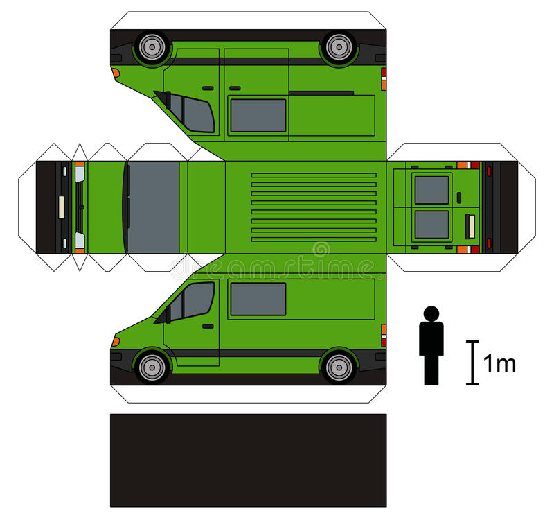 Paper model of a van royalty free stock photography