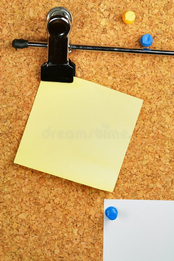 Download Paper Of Note On Cork Noticeboard Stock Image - Image: 4941181