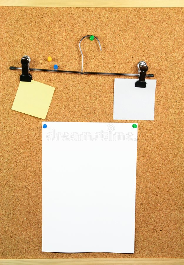 Download Paper Of Note On Cork Noticeboard Stock Photo - Image: 4941364
