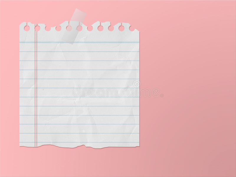Paper note 2. Empty paper note stick on pink wall royalty free stock photography
