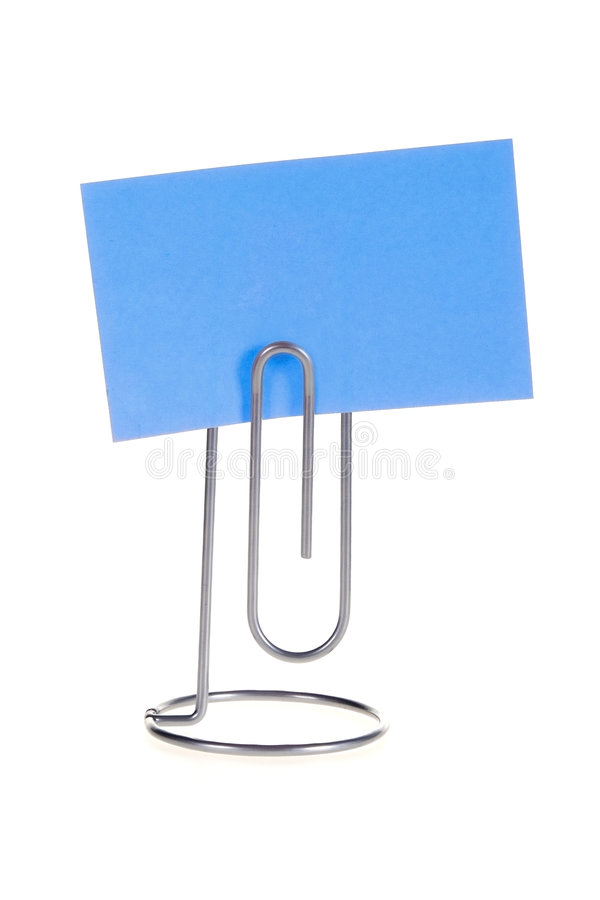Download Paper Note on Memo Holder stock photo. Image of attachment - 4816210
