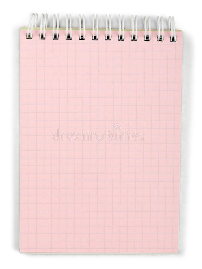 Notepad with Blank Page royalty free stock photos