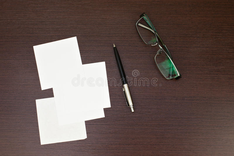 Download Paper Note With Pen And Glasses Stock Photo - Image: 22078012
