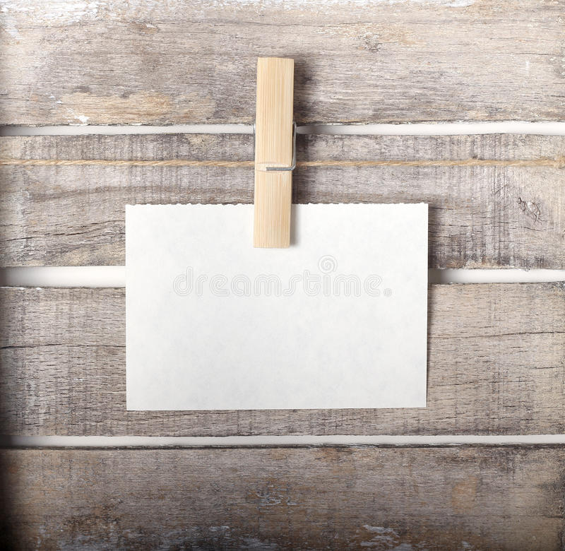 Download Paper note with a pinch stock photo. Image of card, wood - 30411006