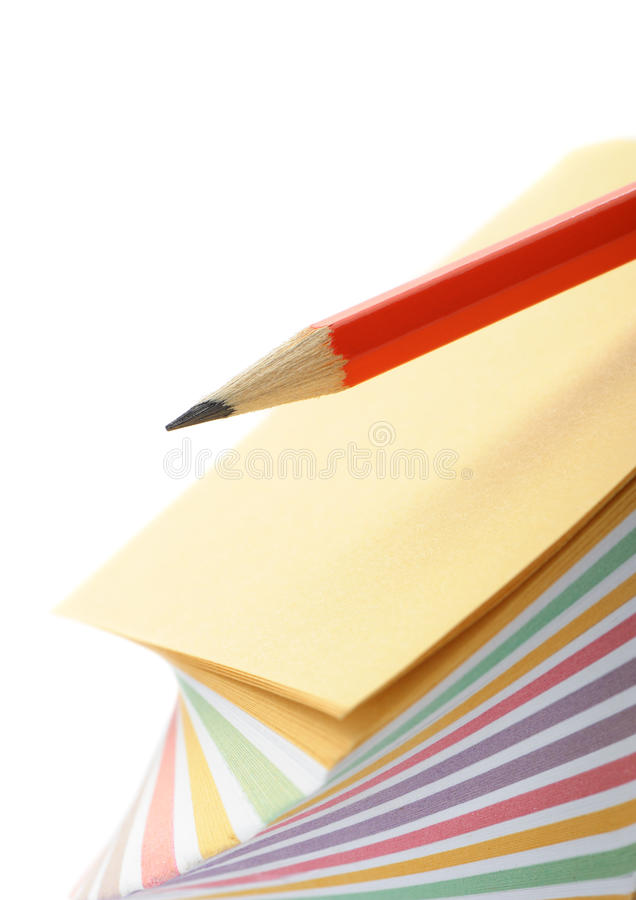Download Paper Note And A Red Pencil Stock Photo - Image: 22521044