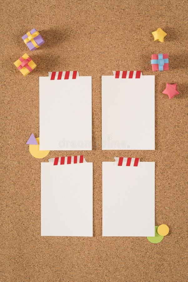 Paper Note Template Empty Cork Board Office School Stock Photo ...