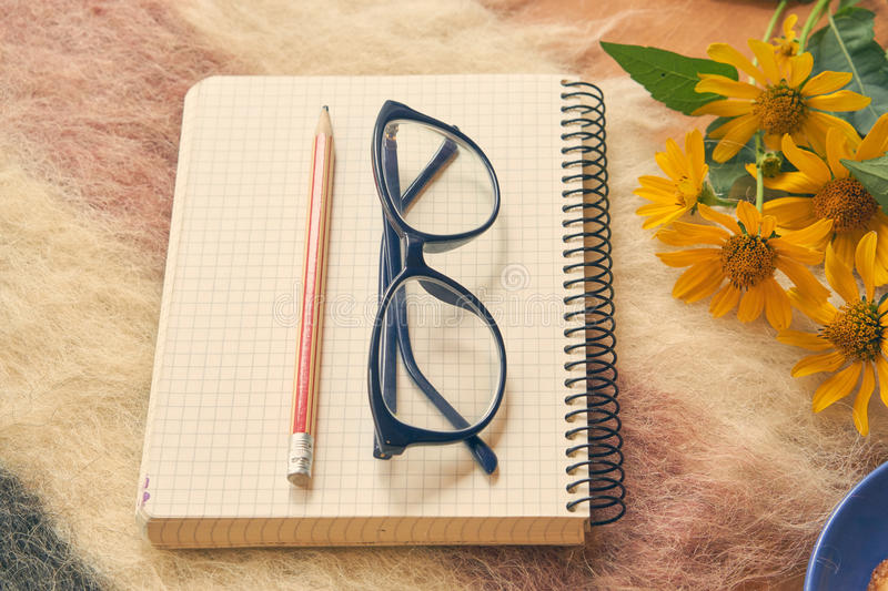 Paper notebook with pen and glasses on woolen plaid stock image download paper notebook with pen and glasses on woolen plaid stock image image of notebook mightylinksfo