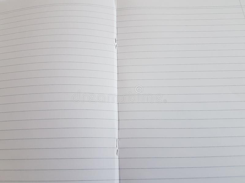 Paper notebook sheets empty blank squared lines spiral office page. School exercice book stock photography
