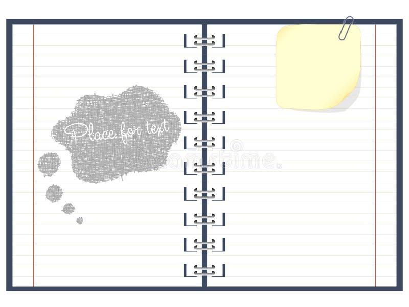 Paper notebook stock illustration
