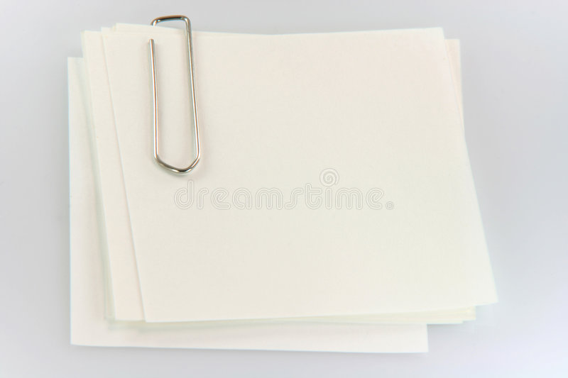 Paper notes with clip stock image
