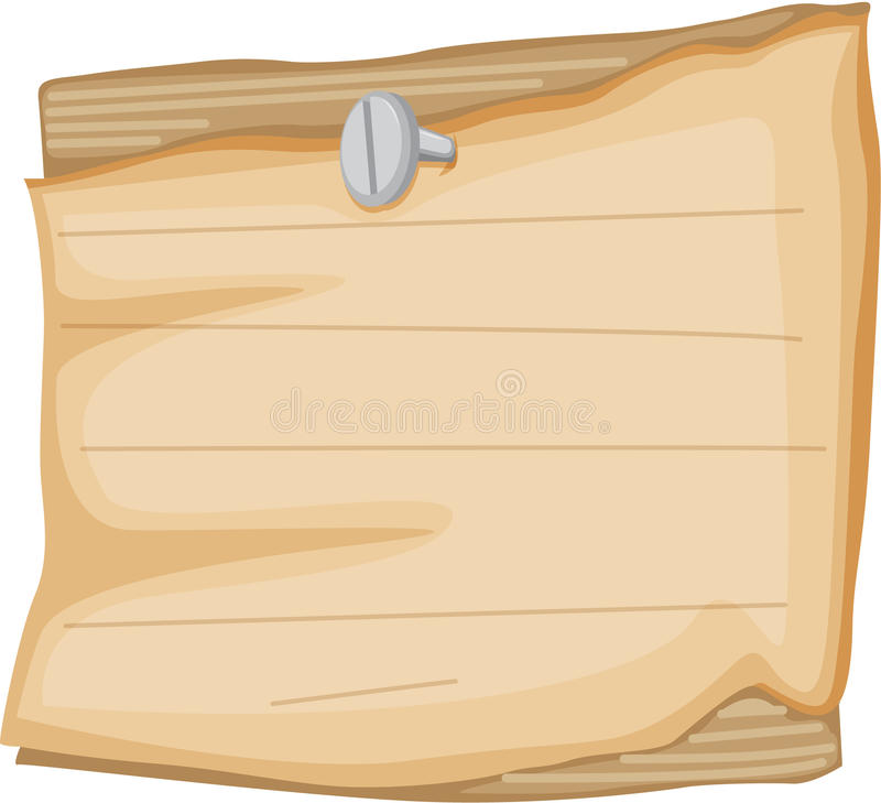 Paper notice. Illustration of paper notice on a white background royalty free illustration