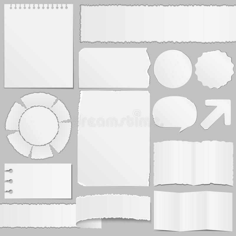 Paper objects royalty free illustration