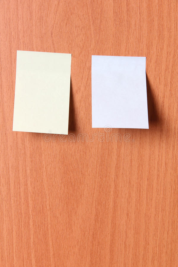 Free Paper On Wooden Wall Three Royalty Free Stock Photo - 90879095